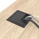 Заглушка для кабелю чорна