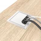 Заглушка для кабеля алюминий